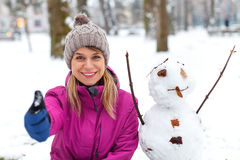 I like Mr. Snowman Stock Photography