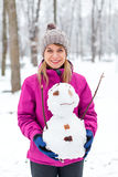 I like Mr. Snowman Royalty Free Stock Photography