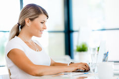 I like my career and ready to work hard Royalty Free Stock Photography