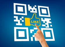 I Like QR Code Royalty Free Stock Photos