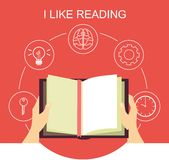 I like reading Royalty Free Stock Image