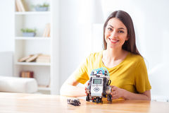 I like this robot very much Stock Image