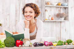 I like to cook healthy and appetite food royalty free stock image
