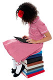 I like to operate digital tablet. Royalty Free Stock Image