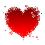 I like winter! Heart shape of snowflakes Royalty Free Stock Photos