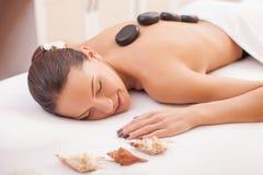 I like this wonderful skin care treatment Stock Photos