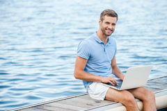 I like working outdoors! Royalty Free Stock Photos