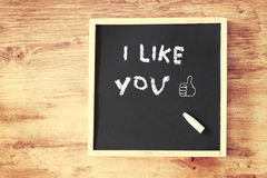 I like you concept with chalkboard Royalty Free Stock Photography