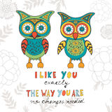 I like you exactly the way you are. No changes Royalty Free Stock Photography