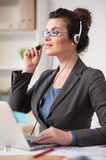 I am listening to you with attention Stock Photos