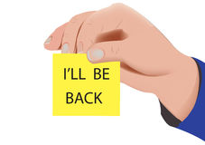 I'll be back Royalty Free Stock Photo