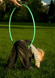 Toddler with hoop Royalty Free Stock Images
