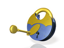 I lock the key. Stock Images