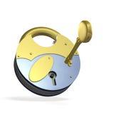 I lock the key. Royalty Free Stock Image