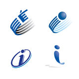 I logo. Logo set showing concept of an i for internet or IT industry