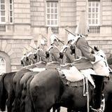 i london England horse och kavalleri för drottningen Royaltyfri Fotografi