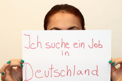 I am looking for a job. In Germany Stock Images