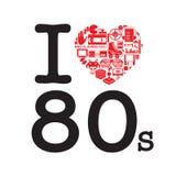 I Love 80's Stock Image