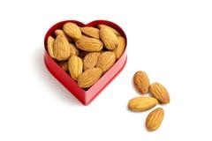 I love almonds Stock Photo