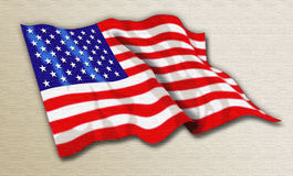I Love America. An artisticly realized painting of the American flag in all its glory Stock Photography