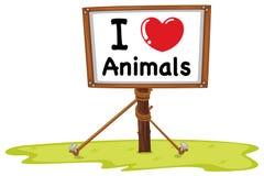 I love animal sign Royalty Free Stock Photos