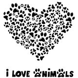 I love animals card Royalty Free Stock Image