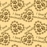 I love animals pattern Royalty Free Stock Photo