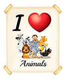 I love animals Royalty Free Stock Photos