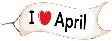 I love April Stock Photo