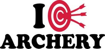I love Archery Target Royalty Free Stock Photo