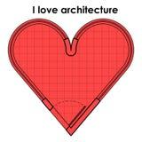 I love architecture stock illustration