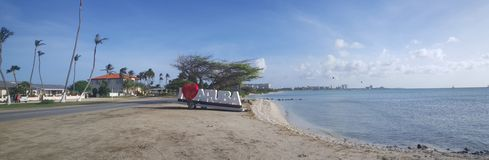 I love Aruba sign Stock Photo