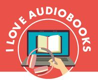 I love audiobooks concept Royalty Free Stock Images