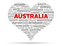 I Love Australia Royalty Free Stock Photography
