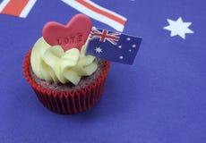 I Love Australia cupcake Royalty Free Stock Photo