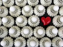 I Love Badminton Royalty Free Stock Photos
