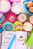 I love baking cupcakes Stock Images