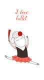 I love ballet sheep stock illustration