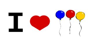 I love balloons Royalty Free Stock Images