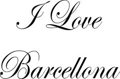 I Love Barcellona text sign illustration Royalty Free Stock Photos