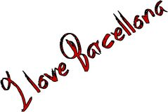I Love Barcellona text sign illustration Stock Photography