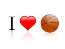 I love basketball. On isolated background Royalty Free Stock Photo