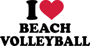 I Love Beach Volleyball Stock Images