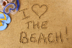 Summer beach love message fun Royalty Free Stock Images