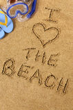 Summer beach love message Royalty Free Stock Photos