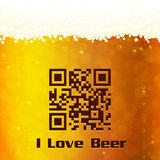 I Love Beer background Royalty Free Stock Images
