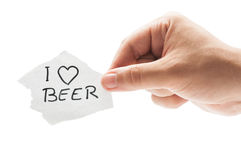 I love Beer Stock Photography