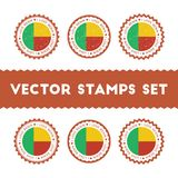 I Love Benin vector stamps set. Stock Photo