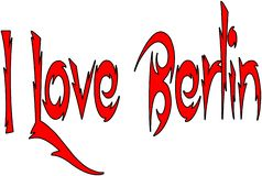 I Love Berlin text sign illustration royalty free stock image