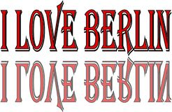 I Love Berlin text sign illustration stock photography